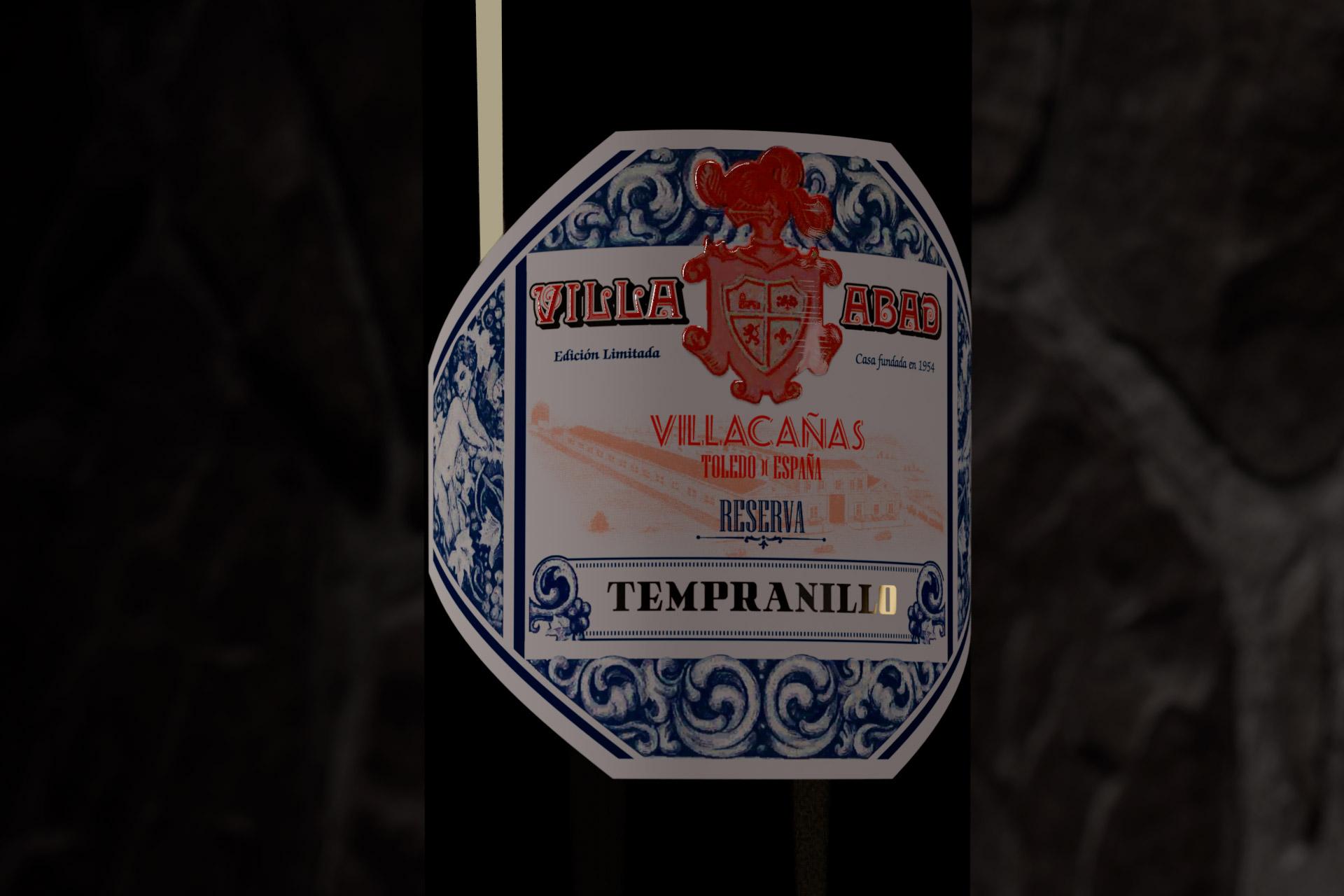 diseño etiqueta de vino